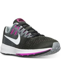 Nike Women's Air Zoom Structure 20 Running Sneakers From Finish Line Anthracite White Wolf Gre