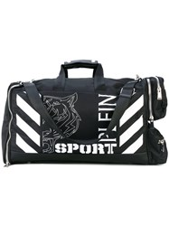 Plein Sport Printed Holdall Men Leather Nylon One Size Black