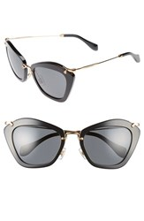 Miu Miu Women's Glitter Infused 55Mm Cat Eye Sunglasses