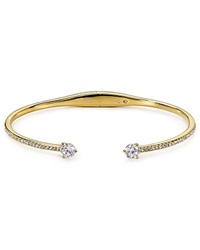 Nadri Cubic Zirconia Float Hinge Bangle Gold