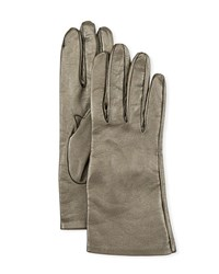Portolano Metallic Napa Leather Gloves Anthracite