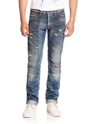 Prps Viral Distressed Straight Fit Jeans Indigo