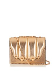 Marco De Vincenzo Paw Effect Leather Cross Body Bag Gold