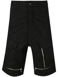 Stone Island Shadow Project Zips Deck Shorts Black