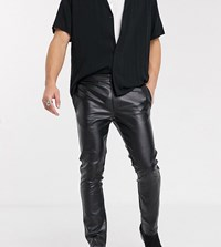Heart And Dagger Skinny Faux Leather Pants In Black