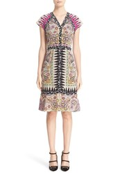 Etro Women's Ikat Paisley Print Silk Dress