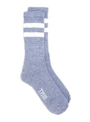 Topman Blue And White Stripe Tube Socks