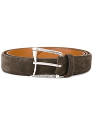 D'amico Curved Buckle Belt Brown