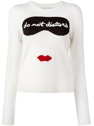 Alice Olivia 'Do Not Disturb' Jumper White