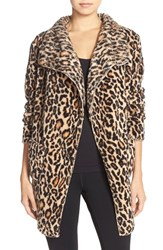 Women's Pj Salvage Pattern Cardigan Natural Leopard