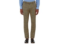 Gucci Men's Houndstooth Slim Trousers No Color