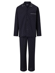 John Lewis Diamond Dot Pyjamas Navy