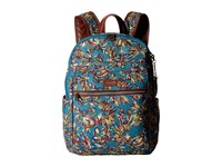 Sakroots Artist Circle Cargo Backpack Teal Treehouse Backpack Bags Blue