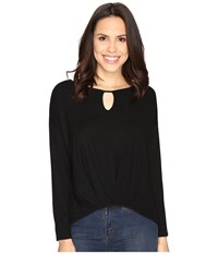 Christin Michaels Kettle Lake Top Black Women's Clothing
