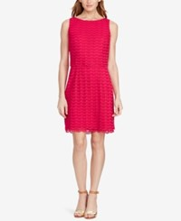American Living Mesh Popover Dress Pink