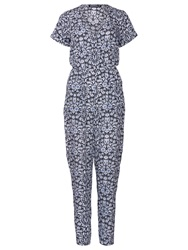 Sugarhill Boutique Natasha Floral Jumpsuit Blue