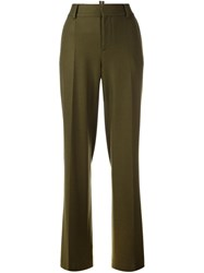 Dsquared2 Straight Leg Trousers Green