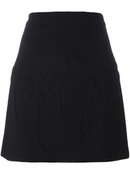 Victoria Beckham Mini A Line Skirt Black