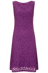 Havren Matilda Sleeveless Lace Dress Purple