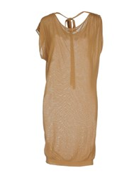Toy G. Short Dresses Camel