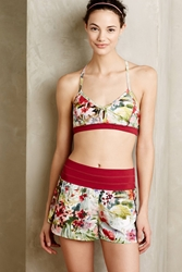 Pure Good Loa Racerback Bra Botanical Motif