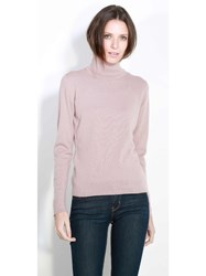 Johnstons Of Elgin Cashmere Roll Collar Sweater Pink