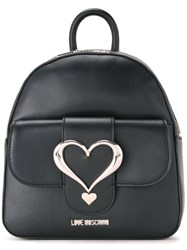 Love Moschino Buckle Backpack Black