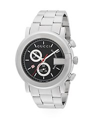 Gucci Chronograph Stainless Steel Bracelet Watch Black