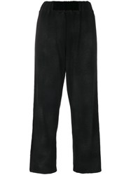 Avant Toi Cropped Trousers Cotton Polyester M Black