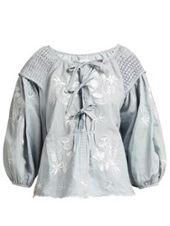 Innika Choo Oliver Daily Linen Top Grey
