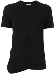 Dkny Central Seam T Shirt Black
