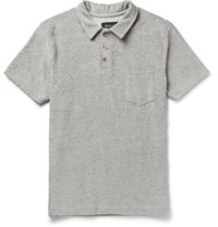 Howlin' Slim Fit Cotton Blend Terry Polo Shirt Gray