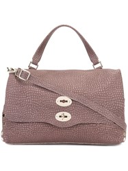 Zanellato Removable Strap Tote Pink Purple