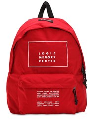 Undercover Eastpak Printed Canvas Backpack Red
