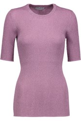 Opening Ceremony Metallic Ribbed Knit Sweater Lavender