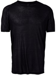 Tom Rebl Semi Sheer T Shirt Black
