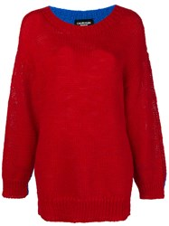 Calvin Klein 205W39nyc Oversized Colour Block Jumper Red