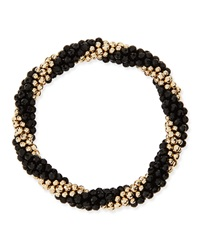Walter Steiger Audrey 14K Gold And Black Onyx Bead Bracelet