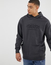 Pull And Bear Pullandbear Hoodie With Leopard Print In Washed Grey