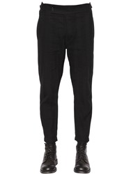 Ann Demeulemeester Cotton Gabardine Pants With Side Straps