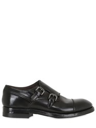 Silvano Sassetti Brushed Horse Leather Monk Strap Shoes