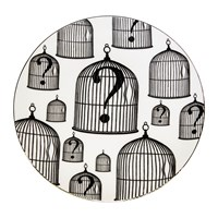 Rory Dobner Perfect Plates Birdcage 2 Black And White