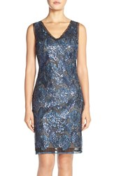 Women's Julia Jordan Embroidered Sequin Sheath Dress