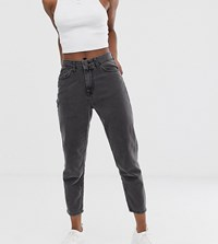 Noisy May Petite Ankle Grazer Mom Jean In Black