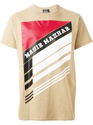 Nasir Mazhar Graphic Logo Print T Shirt Nude And Neutrals