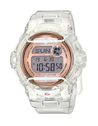 G Shock Baby Clear Resin And Rose Goldtone Quartz Digital Watch