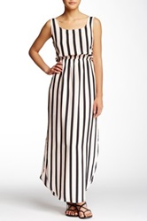 Collective Concepts Striped Tank Midi Dress White