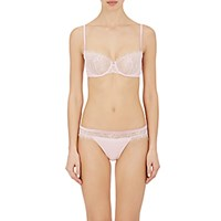 La Perla Women's Merveille Sheer Lace Bra Light Pink