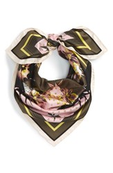Givenchy Women's Ultra Paradise Silk Scarf Hunter Green Pink