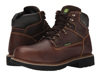 John Deere 6 Waterproof Lace Up Chocolate Men's Work Lace Up Boots Brown